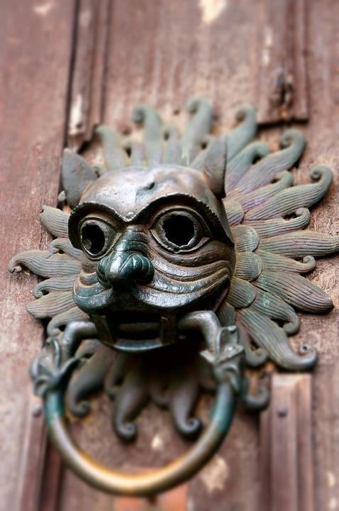 door knocker door face metal knocker brass