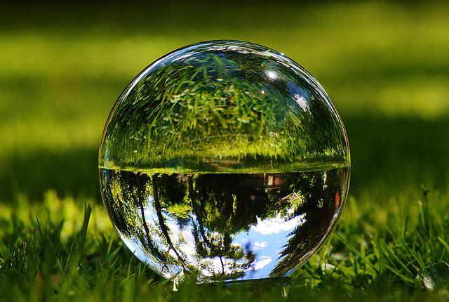 Glass Ball Mirroring Meadow · Free photo on Pixabay