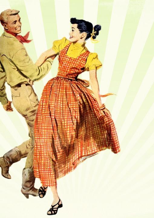 Retro Dancing People · Free image on Pixabay