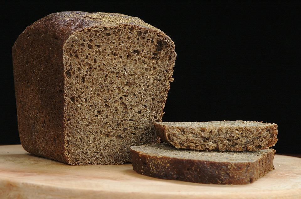 Pan, Centeno, Negro, Rebanada, Alimentos, Nutrición