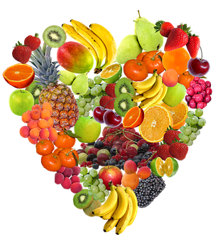 Heart, Fruit, Isolated, Healthy, Eat
