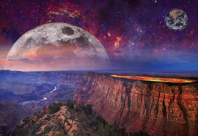 Fantasy space landscapes