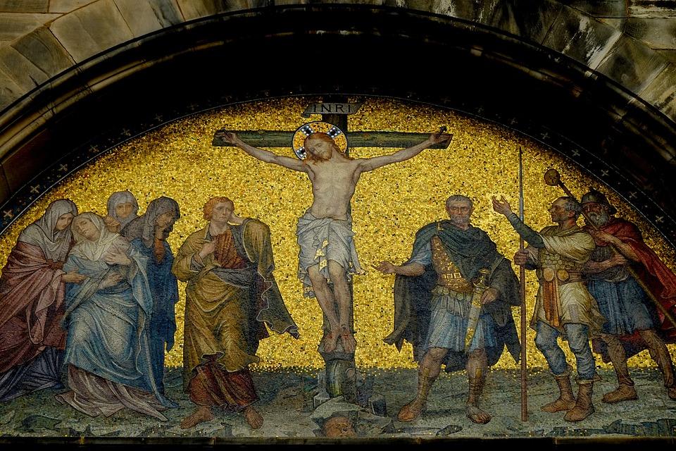 Gratis foto jesus kruisiging afbeelding jezus gratis afbeelding op pixabay 1481180 - Geloof peinture ...