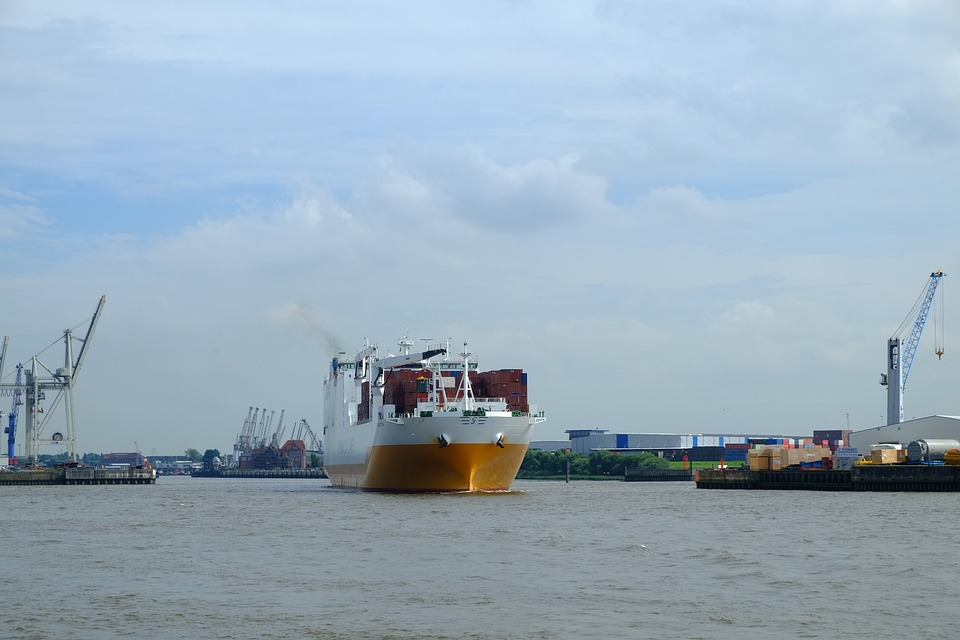 Barco De Contenedores, Embarcación Marina, Mar, Carga