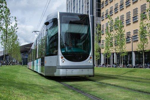 Tram, Train, Ville, Urbaines