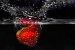 strawberry, plunge, fresh