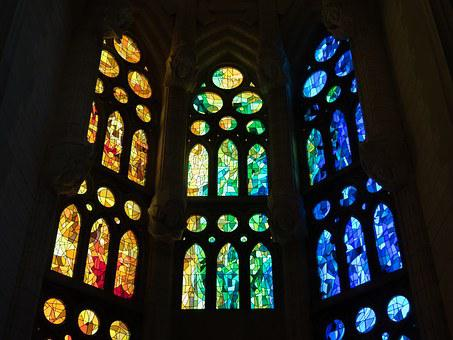 Stained Glass Window Cathedral Sagrada Fam