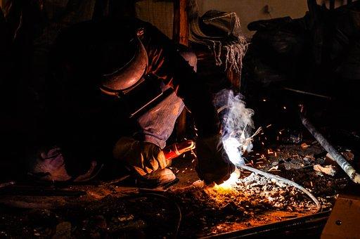 Worker, Welding, Welder, Metal, Steel