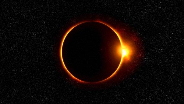 Solar Eclipse, Sun, Flare, Solar