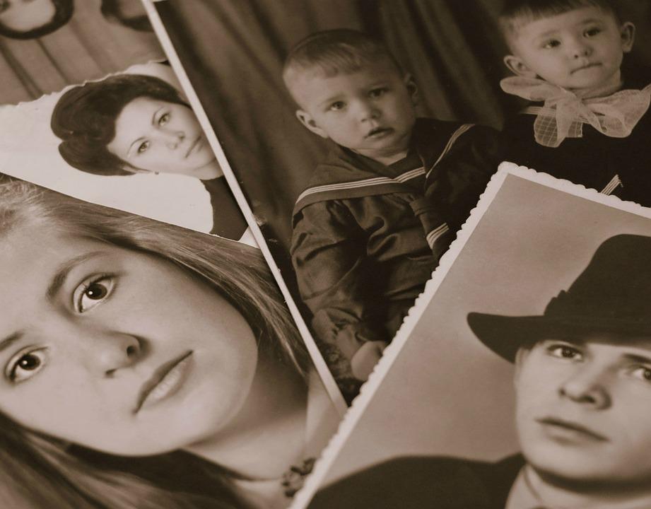 Retro, Álbum De Fotos, Memoria, Familia, Generación