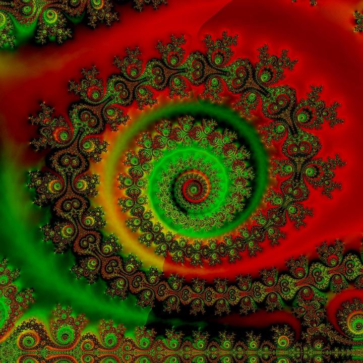 Psychedelische Spirale Regenbogen Fraktal