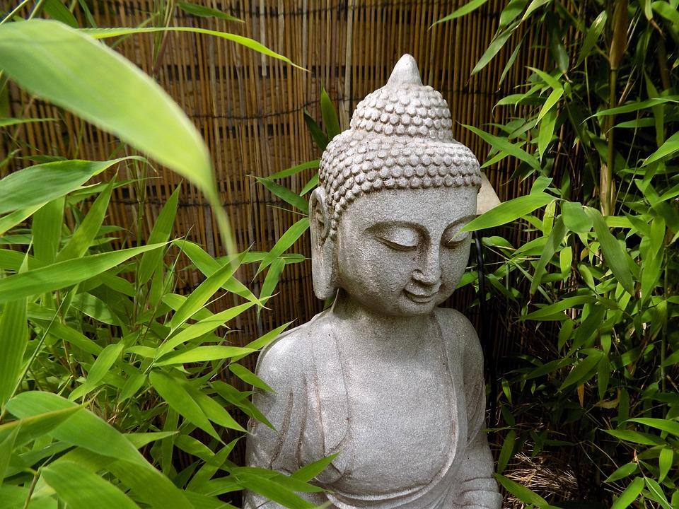 Free photo buddha zen buddhism stone figure free for Statue jardin zen