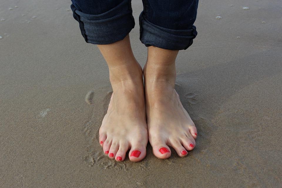 Beach, Vacanze, Benessere, Piedi, Salute, Bagnato