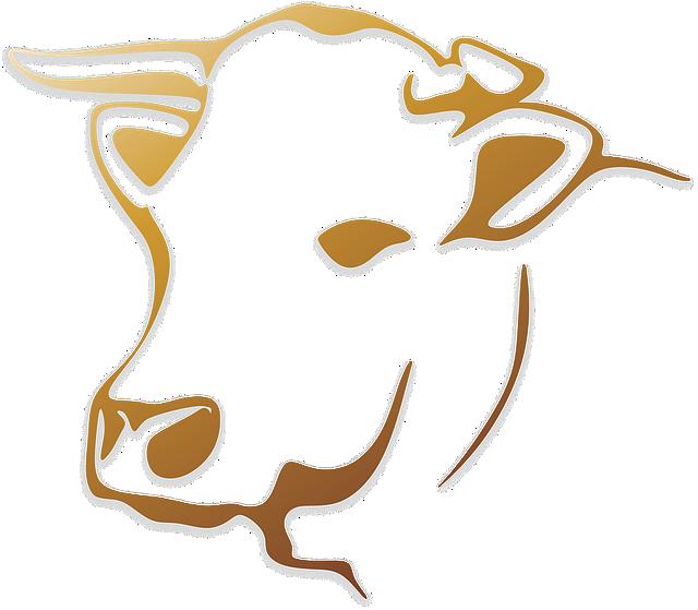free illustration cow cattle animal farm logo free