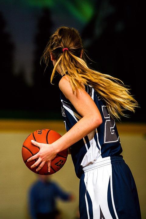 Basketball, Player, Girls Basketball, Girl, Ball, Sport