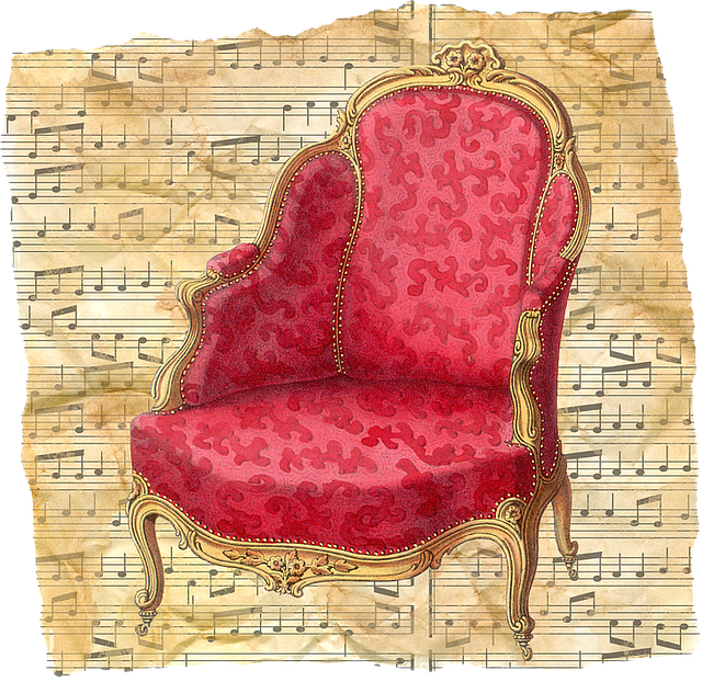 Vintage Chair Red Musi...