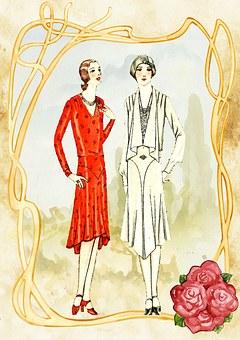 Vintage, Ladies, Romantic, 1920'S