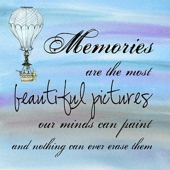 Bluish image with air baloon and words Memories are the most beautiful pictures ... for 301 inspirational and motivational quotes