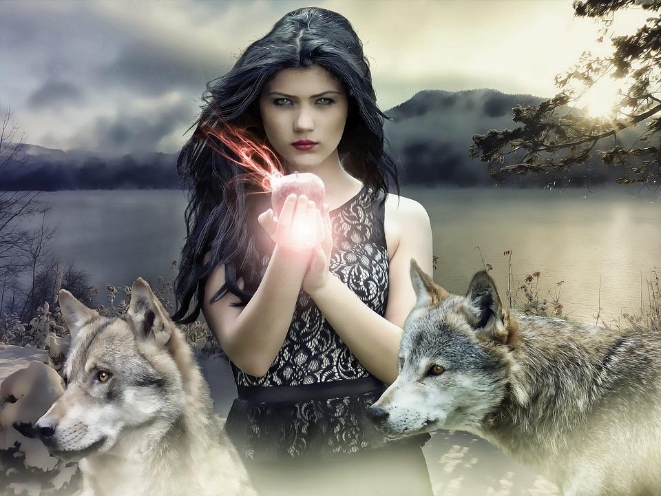 Gothique, Fantaisie, Sombre, Femmes, Sorcière