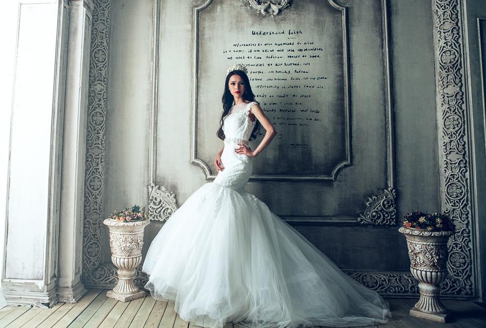 Suknia Ślubna, Panna Młoda, Ekstrawaganckie, Fantazyjny