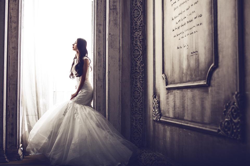 웨딩 드레스, 성, 신부