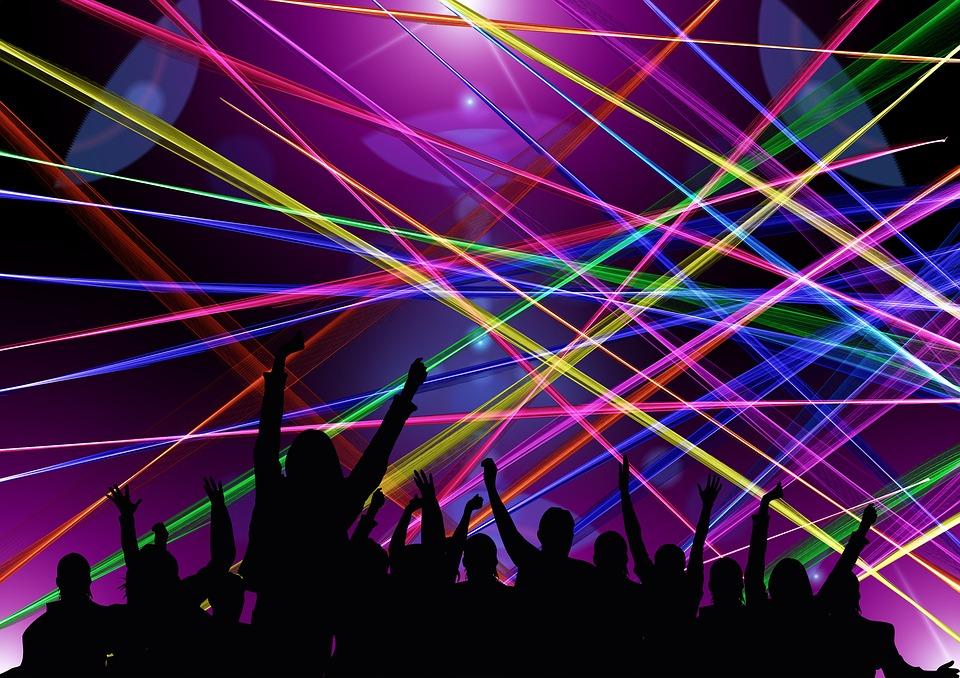 Free Illustration Disco Laser Rays Dance Free Image