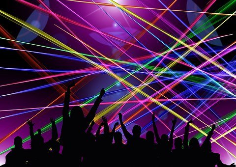Disco Laser Rays Dance Celebrate Party Hum