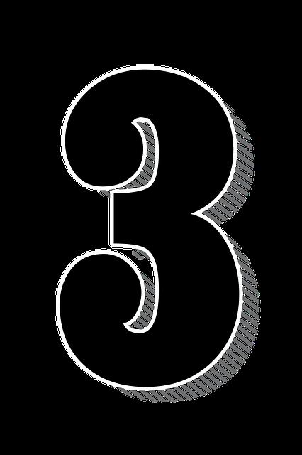 Numbers Three 3 Drop - Free image on Pixabay