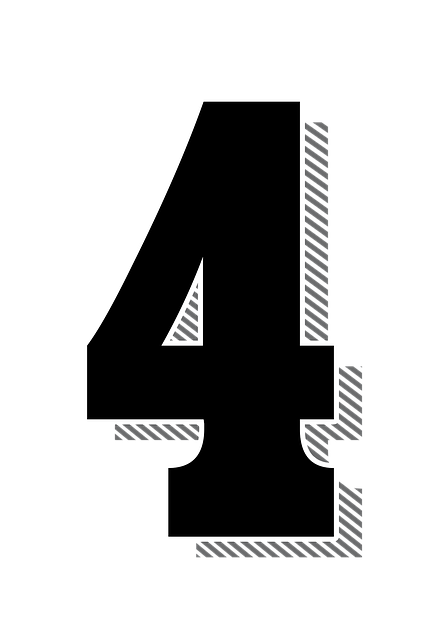 Numbers Four 4 Drop 183 Free Image On Pixabay