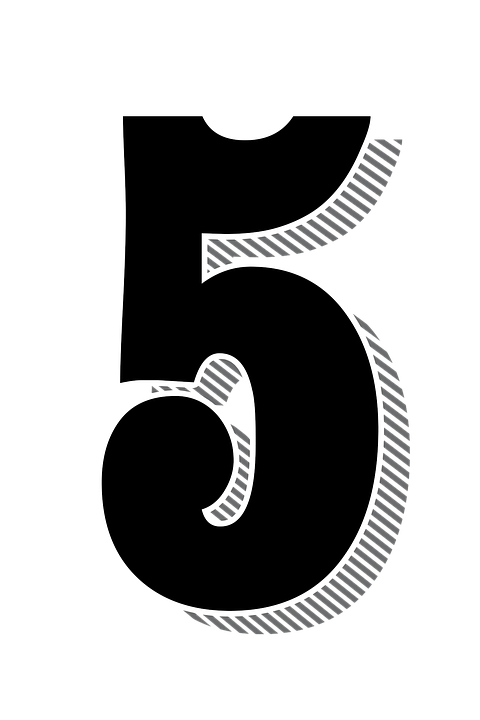 numbers 5 five drop free image on pixabay