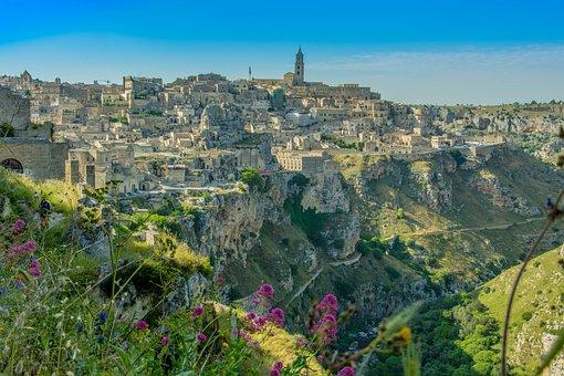 Matera, Italien, Atmosphäre, Landschaft