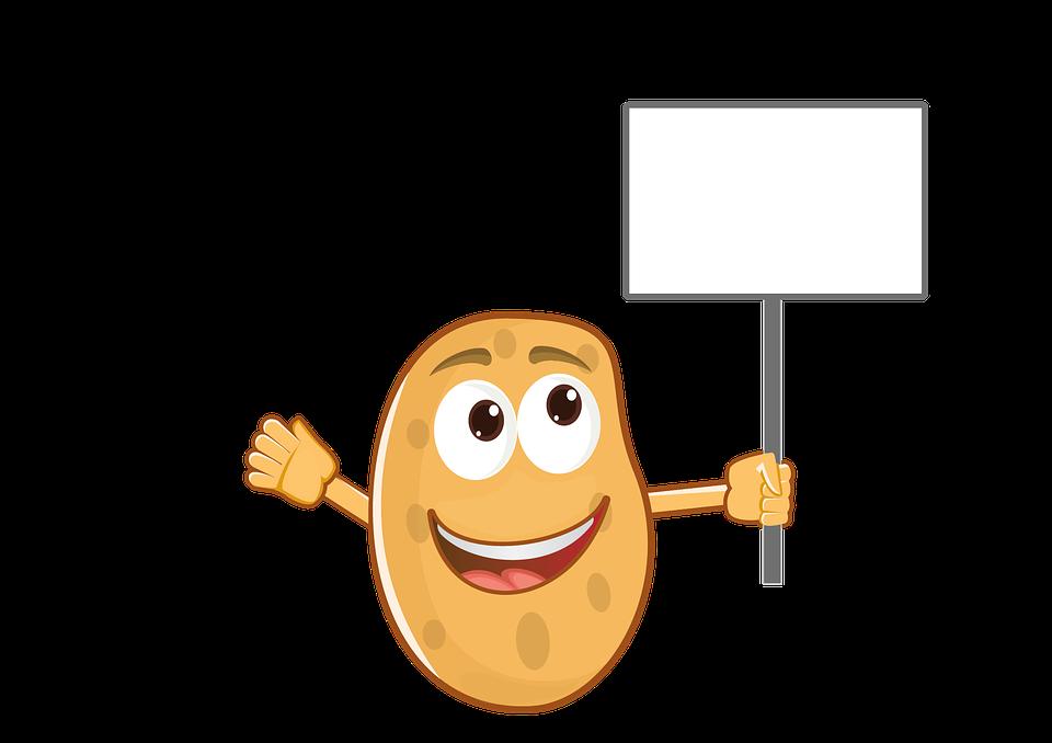 ilustrasi gratis kentang maskot kartun makanan