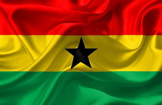 Flag, Ghana, Red, Yellow, Green, Black