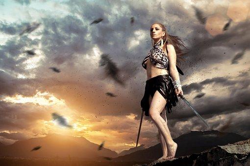 Join Naked girl warrior japanese