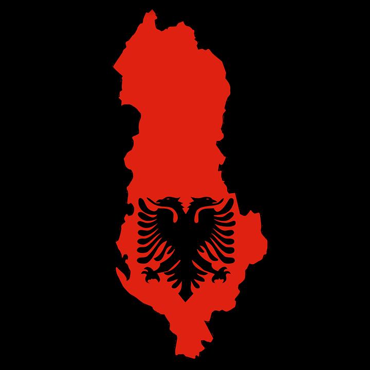 Albania Flag Animation