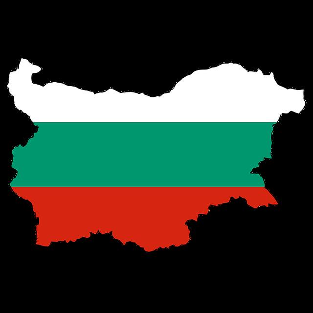 Bulgaria Flag Black And White