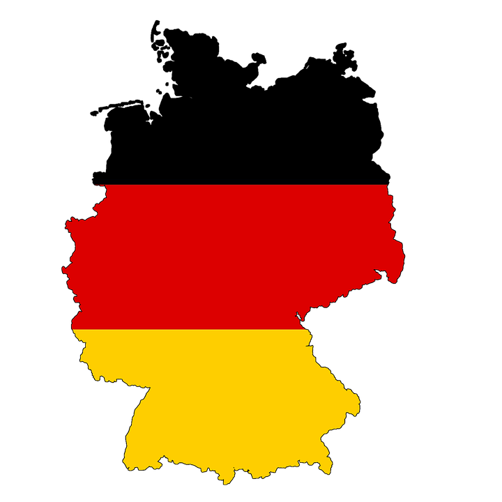 germany map flag land country borders