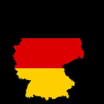 Allemagne, La Carte, Drapeau, Des Terres