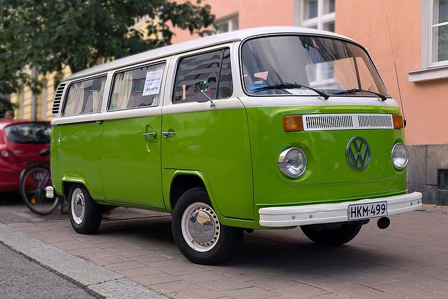 Free Photo Volkswagen Old Van Car Green Free Image