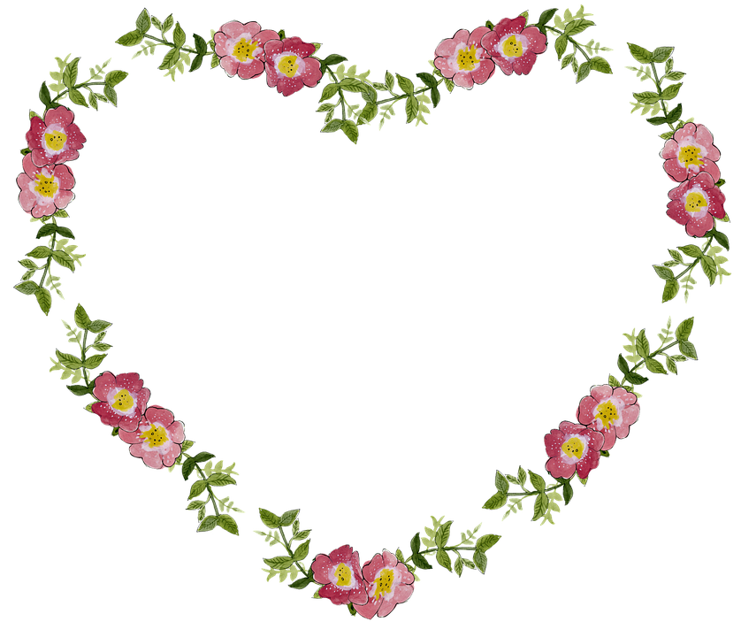 heart floral frame valentine - photo #25