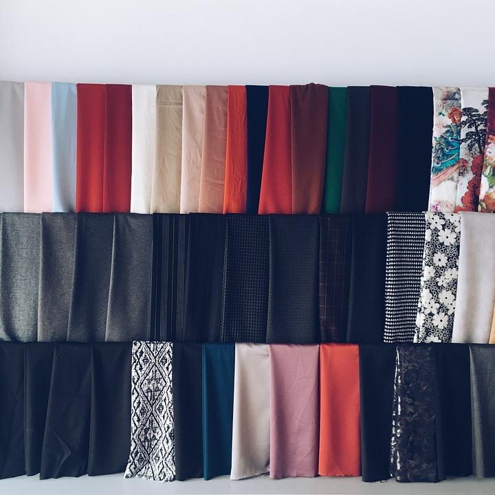 패브릭, 의류, 스튜디오, 섬유, 바느질, 디자인, 패션, 색