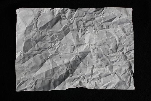 Crumpled Paper Paper Crinkled Crinkle