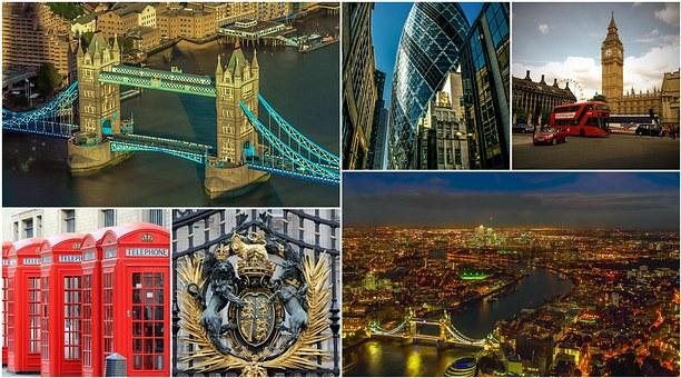 Postal con fotos de Londres