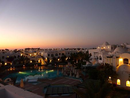 Hurghada, Hotel, Plant, Hotel Roof