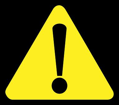産業安全, 信号, シンボル, 注意, 反射, 表示, 黄色, ブラック