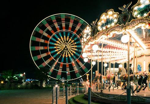Carnival, Carousel, Ferris Wheel