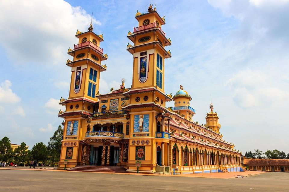The Temple, Vietnam, The City, Asia, Religion, Cao Dai