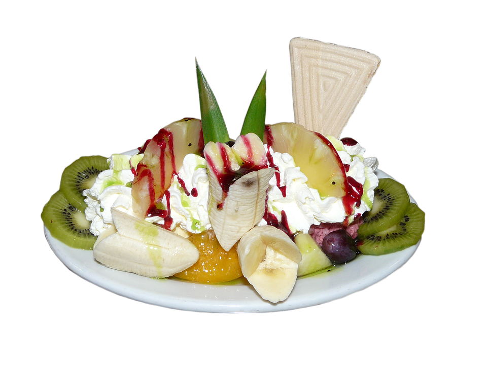 Free photo: Ice Cream Sundae, Fruits, Dessert - Free Image ...
