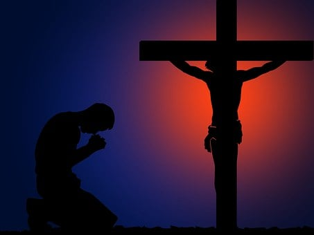 Rezar, Cruz, Angel, Fe, Oración