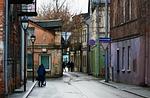 street, scene, old town